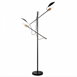 <img class='new_mark_img1' src='https://img.shop-pro.jp/img/new/icons14.gif' style='border:none;display:inline;margin:0px;padding:0px;width:auto;' />POLDER FLOOR LAMP フロアランプ 照明 2灯照明 LED対応 角度調節 高さ調節 間接照明
