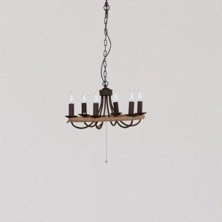 CIRCLE ROPE CHANDELIER シャンデリア 照明 6灯 LED対応 高さ調節可能 ロープ アンティーク レトロ ヴィンテージ風 おしゃれ