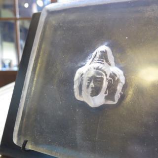 ガラス仏像立体オブジェ(阿修羅) アイアン:ハンマートーン