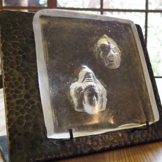 ガラス仏像立体オブジェ(阿修羅・迦楼羅) アイアン:ハンマートーン
