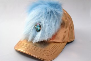 <img class='new_mark_img1' src='https://img.shop-pro.jp/img/new/icons16.gif' style='border:none;display:inline;margin:0px;padding:0px;width:auto;' />Fake fur metallic cap 〜copper〜(フェイクファー・メタリックキャップ カッパー)