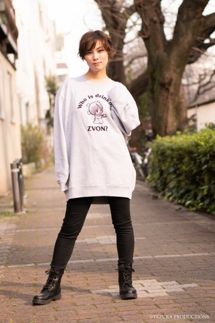 <img class='new_mark_img1' src='//img.shop-pro.jp/img/new/icons59.gif' style='border:none;display:inline;margin:0px;padding:0px;width:auto;' />ピノコ×ZVON COFFEE スウェットシャツ