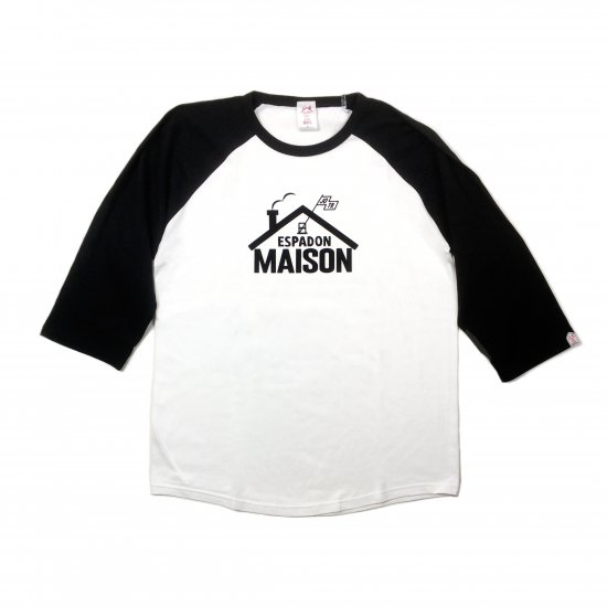 <img class='new_mark_img1' src='https://img.shop-pro.jp/img/new/icons13.gif' style='border:none;display:inline;margin:0px;padding:0px;width:auto;' />ESPADON MEISON 7SLEEVE T SHIRTS / BLACK×WHITE(UNISEX)
