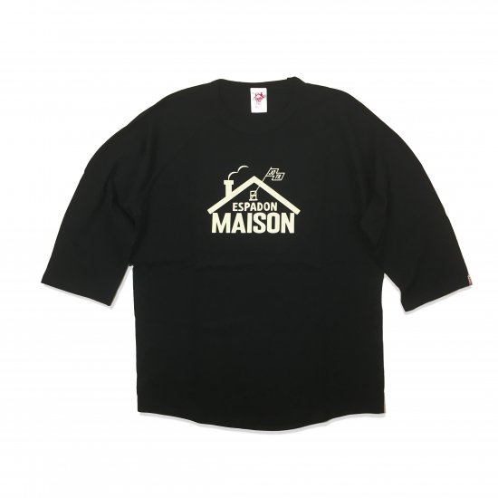 <img class='new_mark_img1' src='https://img.shop-pro.jp/img/new/icons13.gif' style='border:none;display:inline;margin:0px;padding:0px;width:auto;' />ESPADON MEISON 7SLEEVE T SHIRTS / BLACK×BLACK(UNISEX)