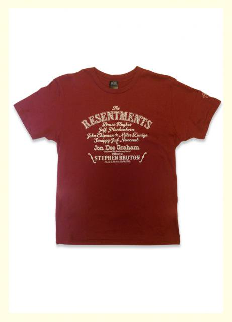 CAFE GOATEE×BRAVE SONG The Resentments TEE / BURGUNDY×IVORY (DEAD STOCK)
