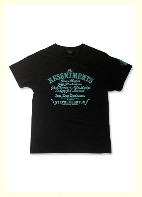 CAFE GOATEE×BRAVE The Resentments TEE / BLACK×TURQUOISE (DEAD STOCK)