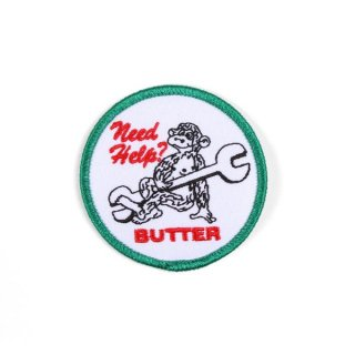 BUTTER GOODS×LABOR SKATE SHOP<br>LABOR NEED HELP PATCH<br>