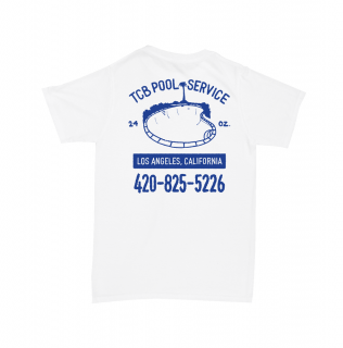 TALL CAN BOYZ<br>POOL SERVICE TEE WHITE<br>