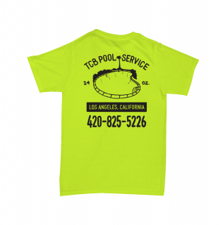 TALL CAN BOYZ<br>POOL SERVICE TEE SAFETY GREEN<br>