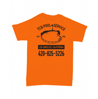 TALL CAN BOYZ<br>POOL SERVICE TEE ORANGE<br>