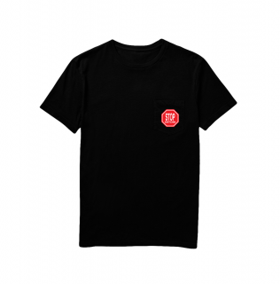 TALL CAN BOYZ<br>STOP SNITCHIN POCKET TEE BLACK<br>
