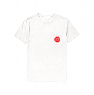 TALL CAN BOYZ<br>STOP SNITCHIN POCKET TEE WHITE<br>