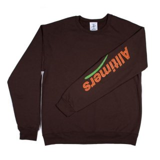 ALLTIMERS<br>ESTATE SLEEVE CREW BROWN<br>