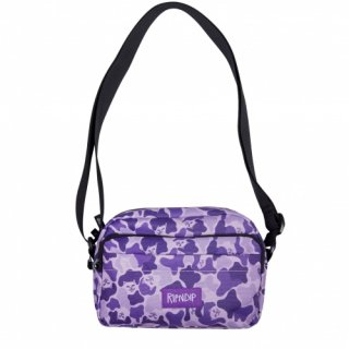 RIPNDIP<br>MAN PURSE SHOULDER BAG (PURPLE CAMO)<br>