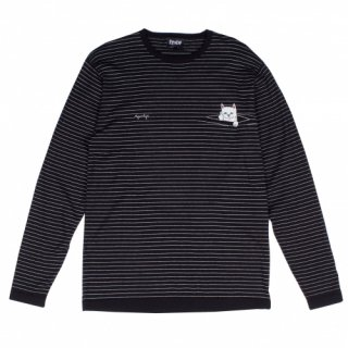 RIPNDIP<br>PEEK A NERMAL KNIT L/S (BLACK/WHITE)<br>