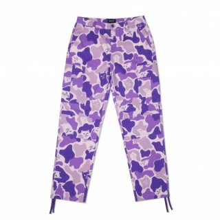 RIPNDIP<br>NERMAL CAMO CARGO PANTS (PURPLE)<br>