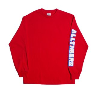 ALLTIMERS<br>BLOCK LONGSLEEVE TEE RED<br>