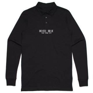 HOTEL BLUE<br>POLO LOGO LONG SLEEVE<br>