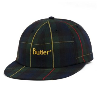 BUTTER GOODS<br>PLAID 6 PANEL HAT<br>