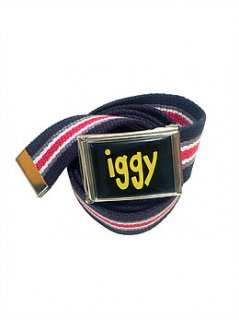 IGGY<br>NAVY STRIPED FLIP TOP BELT<br>