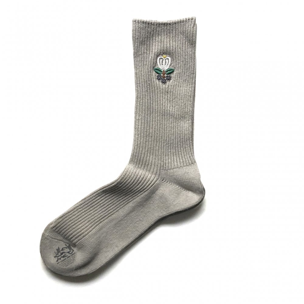 ALWAYTH × MY LOADS ARE LIGHT<br>Charcoal Flower Socks<br>
