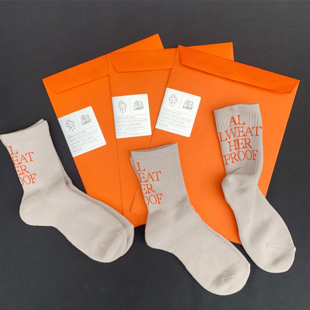 ALWAYTH × MY LOADS ARE LIGHT<br>ALL WEATHER PROOF Text Socks<br>