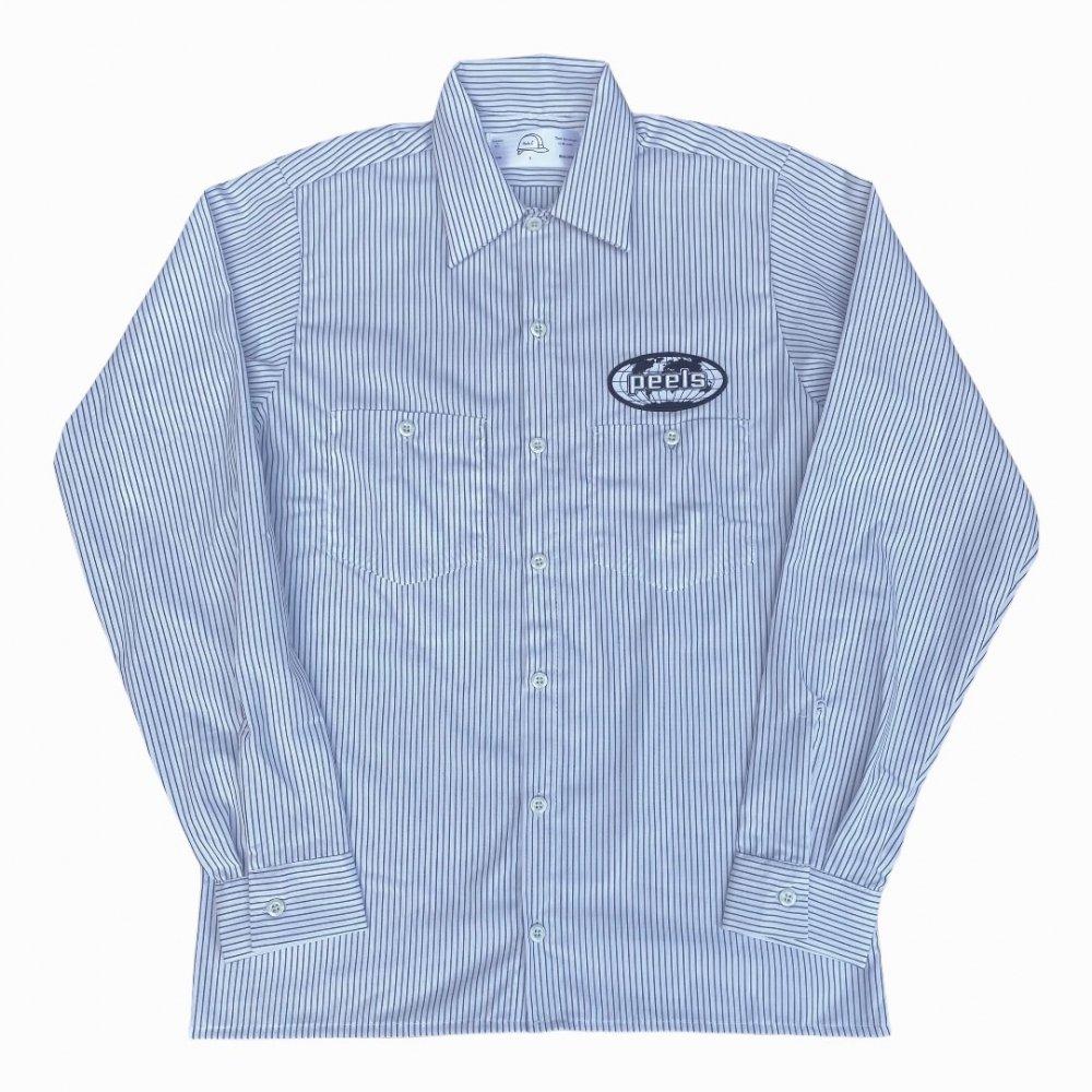 Peels<br>Peels Striped Oval Logo Shirt Long Sleeve<br>