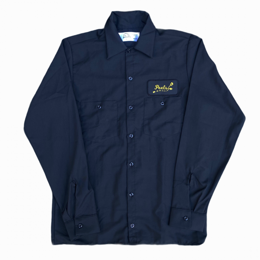Peels<br> Long Sleeve Work Shirt with Road Logo<br>