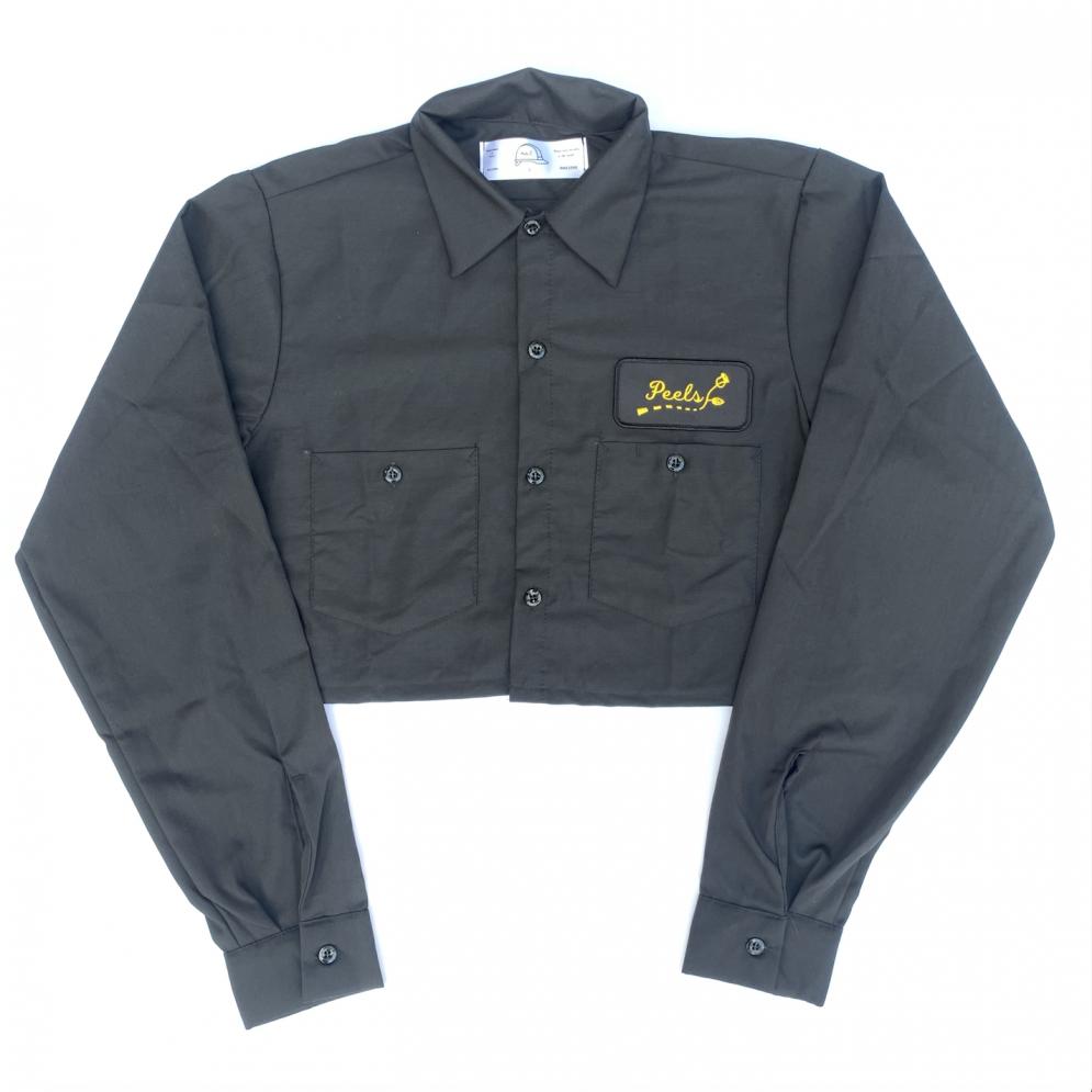 Peels<br>Cropped Version Black Road Logo Work Shirt<br>