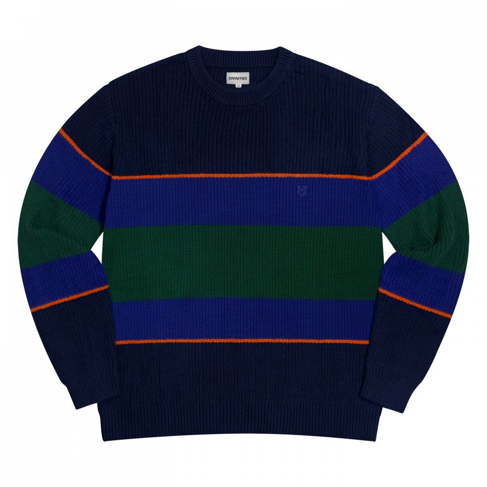 Divinities<br>Loose Gauge Striped Knit Sweater<br>