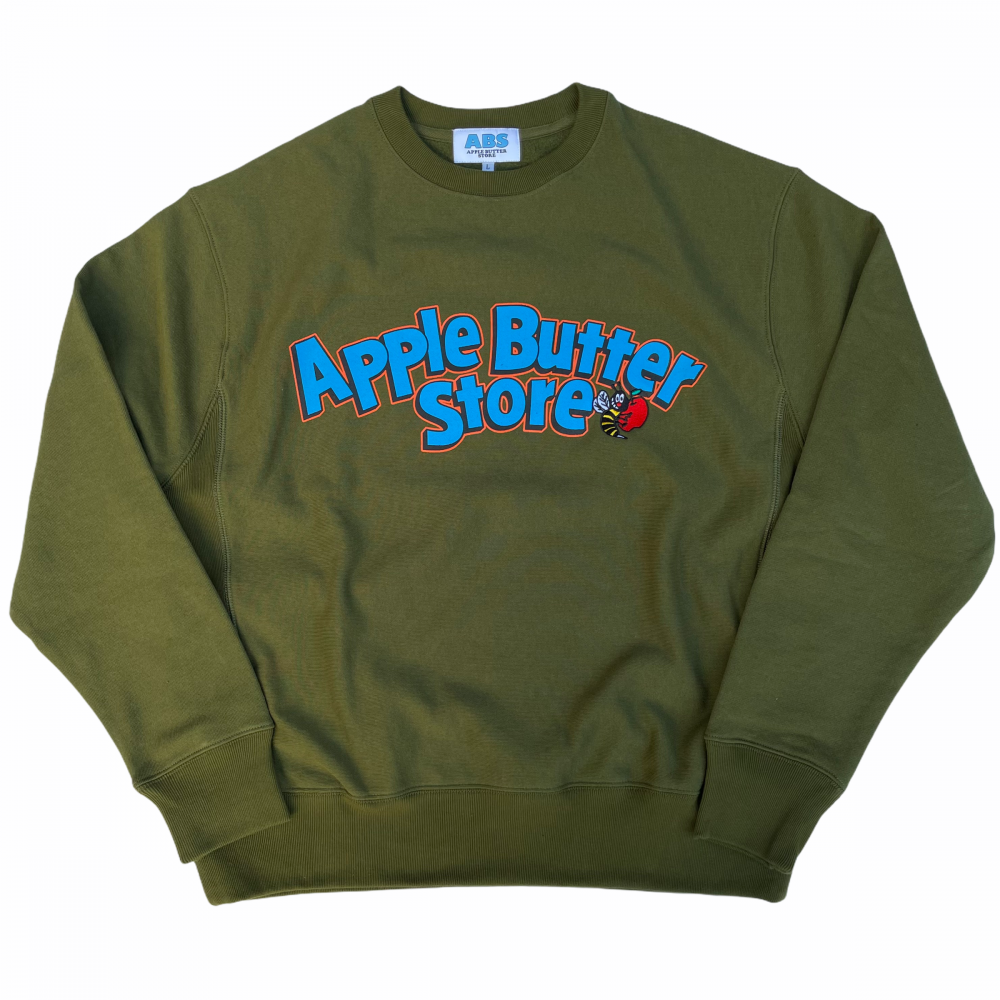 APPLE BUTTER STORE<br>ABS ARCH BEE LOGO EMBROIDERED CREW<br>
