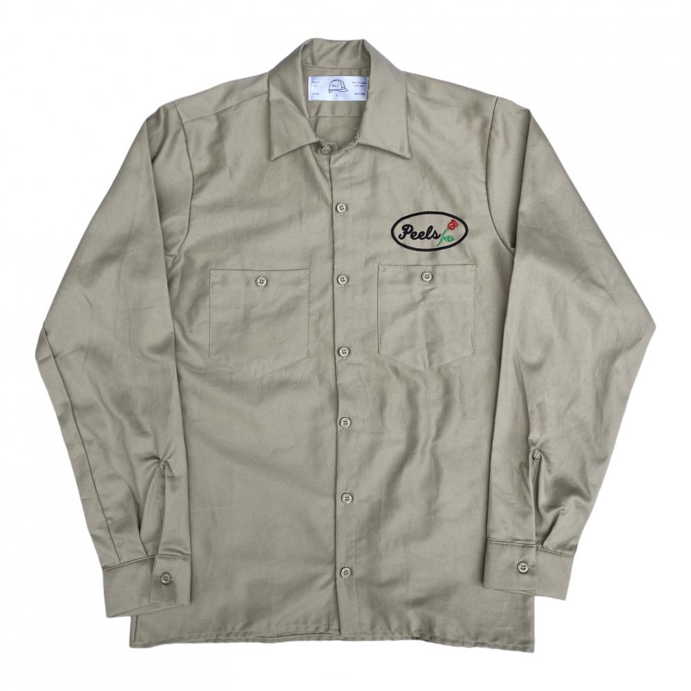 Peels<br>Long Sleeve Work Shirt Custom by APPLE BUTTER<br>