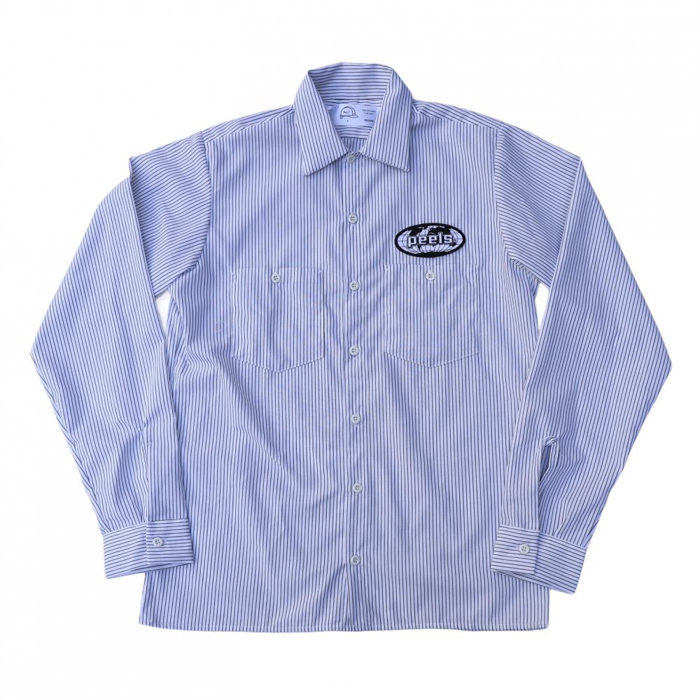 Peels<br>Striped Oval Logo Work Shirt<br>