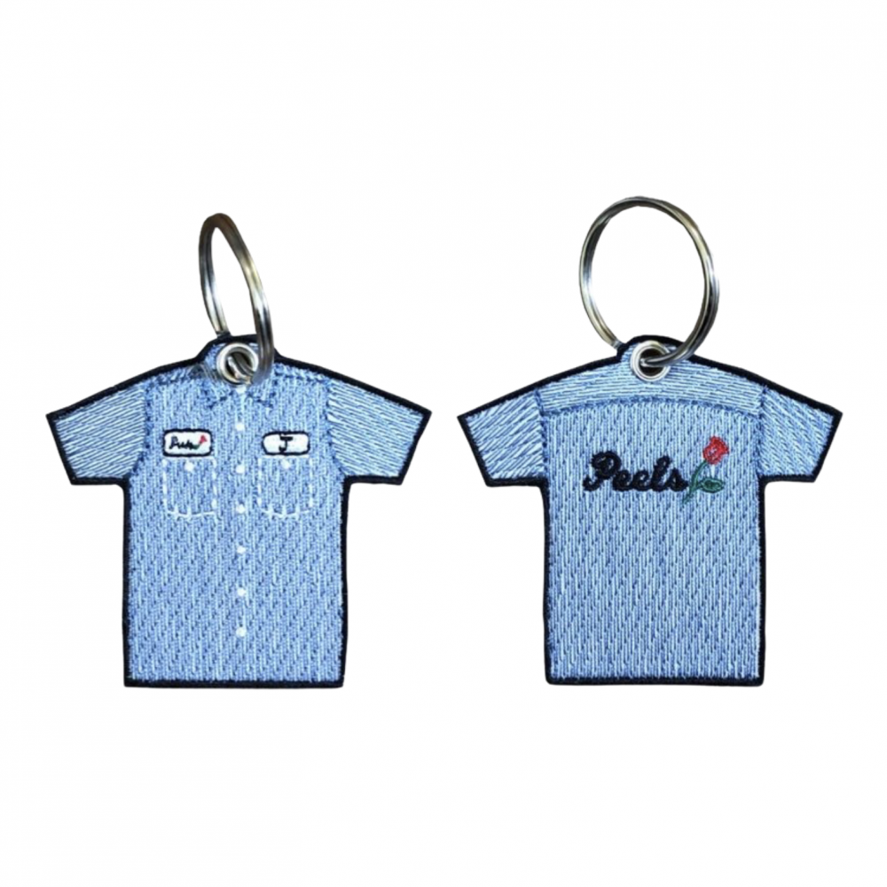 Peels<br>Striped Shirt Embroidered Key Chain<br>