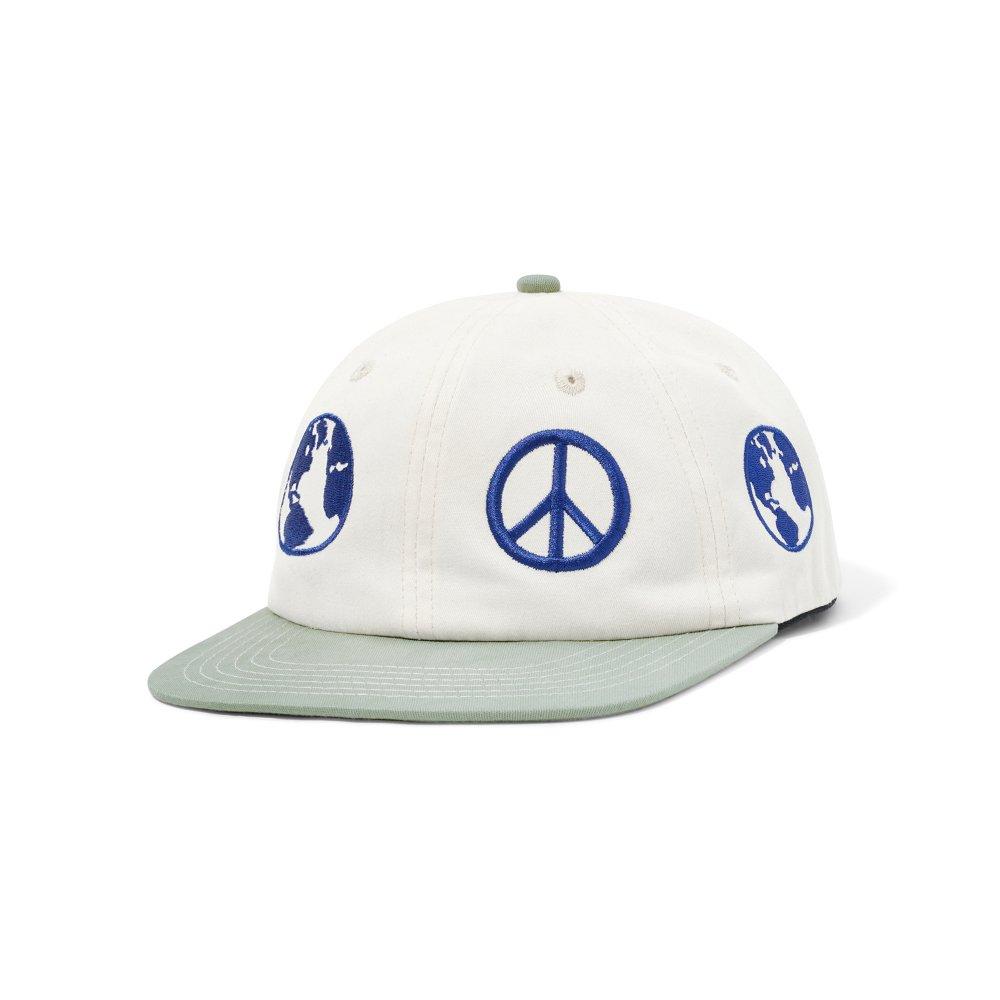 BUTTER GOODS<br>WORLD PEACE 6 PANEL CAP<br>