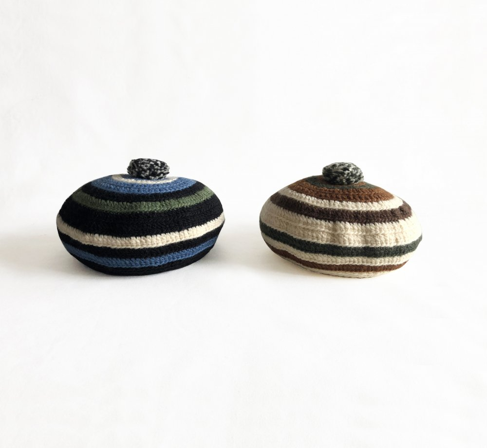 COMFORTABLE REASON<br>Stripe Tam O'Shanter Hat<br>