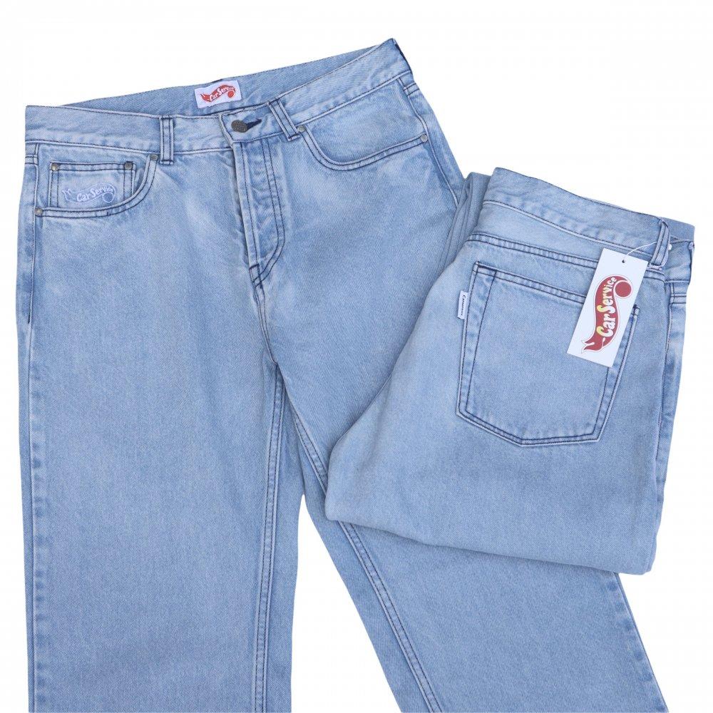 CarService<br>HW Logo Washed Denim Pants<br>