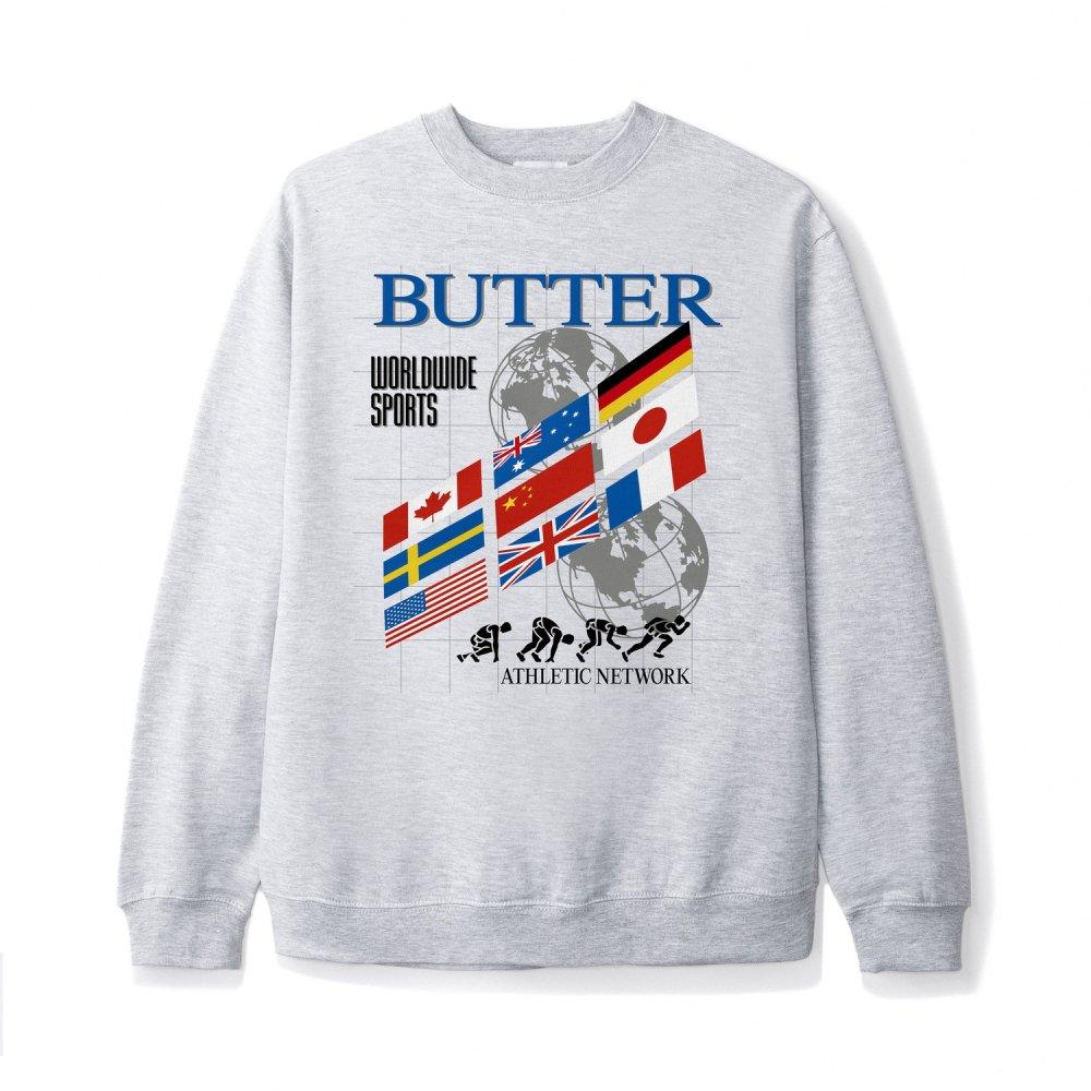 BUTTER GOODS<br>TRACK CREWNECK SWEATSHIRT<br>