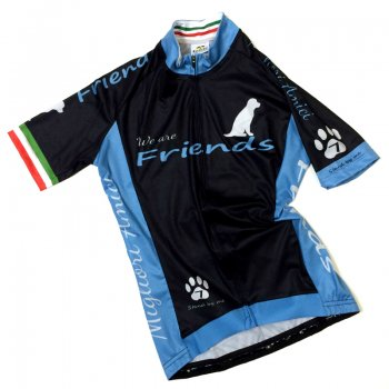 7ITA  Friends Dog Lady Jersey Black/Sky