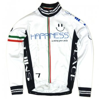 7ITA Happiness Smile LS Jersey White