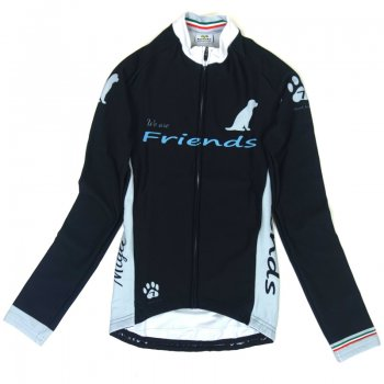 7ITA Friends Dog LS Lady Jersey Black/Grey