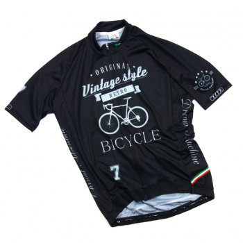 7ITA Vintage Bicycle Jersey BlacK