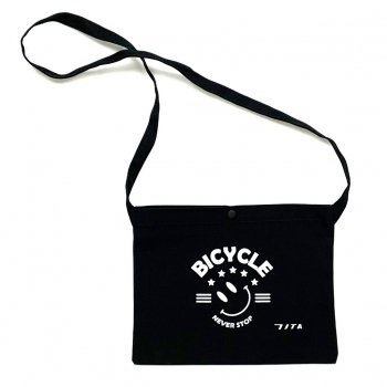 7ITA Happiness Smile III Musette Bag Black