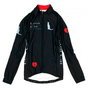 7ITA Neo Lost Cat Lady LS Jersey Black/Red
