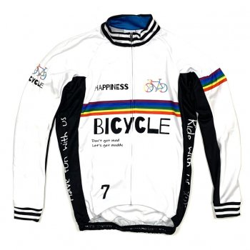 7ITA Happiness Bicycle LS Jersey White