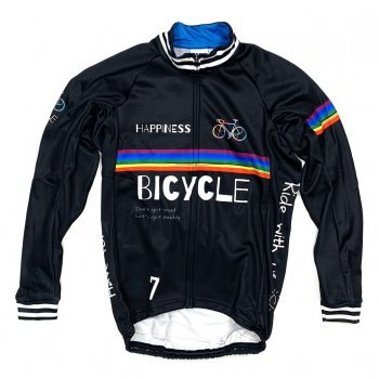 7ITA Happiness Bicycle LS Jersey Black