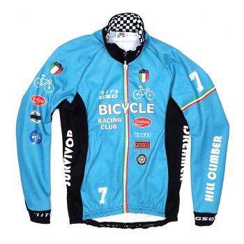 7ITA Bicycle Racing Club Jacket Celeste Green