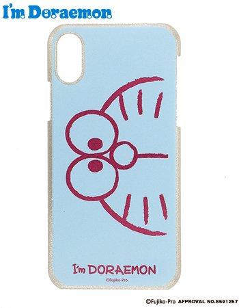iPhoneX/XS I'm  DORAEMON face ケース(ブルー)
