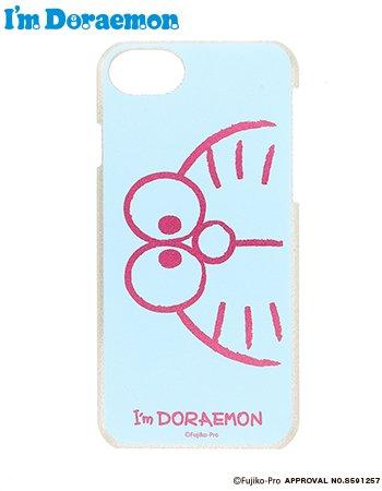 iPhone8/7/6s I'm  DORAEMON face ケース(ブルー)