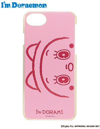iPhone8/7/6s I'm  DORAMI face ケース(ピンク)